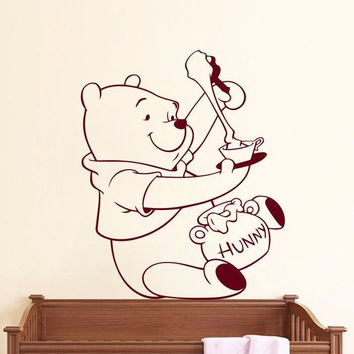 Winnie The Pooh Wall Decals Bear Decal Nursery Baby Room Decor Sticker Art MR459