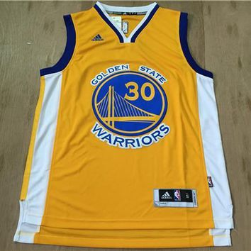 Stephen Curry #30 Golden State Warriors Yellow Jersey