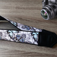 Butterflies  Camera Strap. Photographer Gift.  Camera Accessories