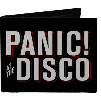 Panic! At The Disco Men's Panic! At The Disco Block Black/White/Red Bi-Fold Wallet