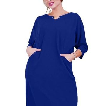 Plus Size Day Dress with Pockets