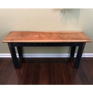 The Thomas Bench - Solid Cherry / Oak Entryway Bench