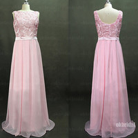 lace prom dresses, pink prom dresses, chiffon prom dresses, long prom dresses, cheap prom dresses, dresses for prom, RE468