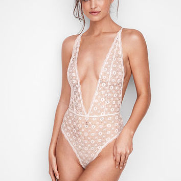 Medallion Lace Teddy - Very Sexy - Victoria's Secret