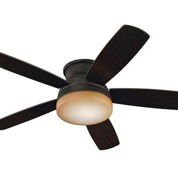 "Monte Carlo 52"" Traverse Semi-Flush Fan - Roman Bronze - Ceiling Fan ..."