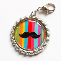 Moustache charm by KellysMagnets