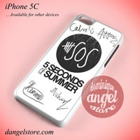 5seconds Of Summer Signature Phone case for iPhone 5C and another iPhone devices