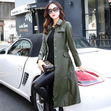 8234c35ef267 5xl especially female leather autumn long faux jackets coat sing