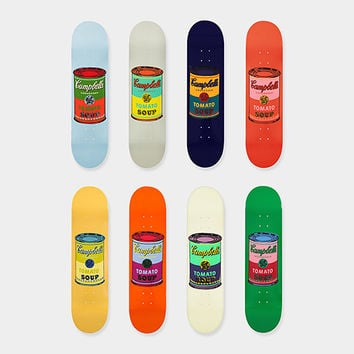 Andy Warhol: Skateboard Colored Campbell's Soup Cans