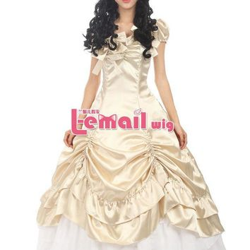 MDIGHY9 Sweet Princess Victorian Prom Dress Pink Red Blue Lolita Gothic Dress Halloween Costumes For Women Adult Customized