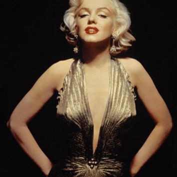 Marilyn Monroe Gold Gown Custom Sized by Morningstar84 on Etsy