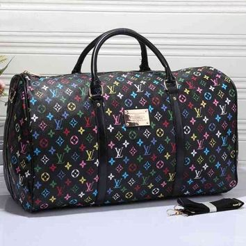 VONE05 LV Women Leather Multicolor Luggage Travel Bags Tote Handbag