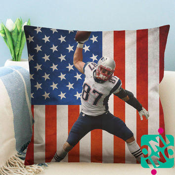 Rob Gronkowski Zippered Pillow Case, Cushion Case, Pillow case