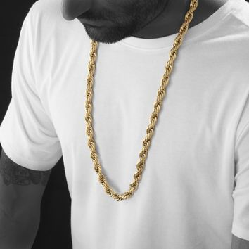 10mm Gold Rope Chain