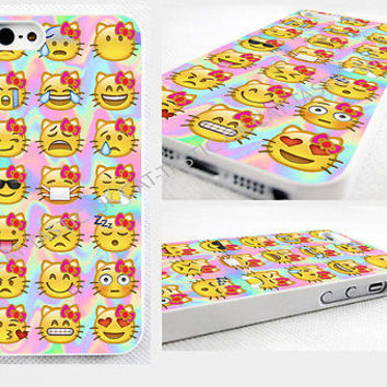 case,cover fits iPhone and samsung models>Tie Dye,kitty,cats, Emoji,hello,bright