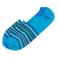 Men's Bugatchi Stripe No-Show Socks