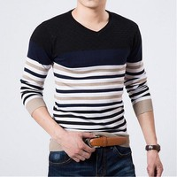 European And American Classic Men's Sweaters, Embroidered Round Neck Sweater Men, Slim Male Sweaters, Cashmere Sweater