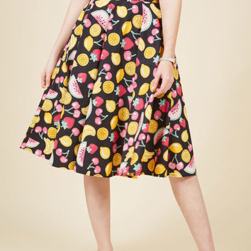 Ain't That the Fruit? A-Line Skirt in Melon Mix