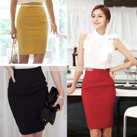 Hot Women's Retro Casual Waist Bag Hip Knee Length Office Lady Pencil Skirt EN24