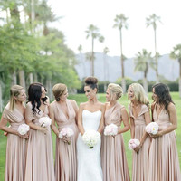 Maxi bridesmaid dress with tube top Infinity dress