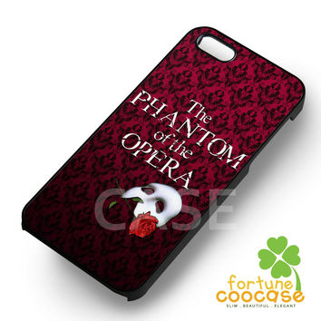 The Phantom of the Opera damask patterned white mask -54R for iPhone 6S case, iPhone 5s case, iPhone 6 case, iPhone 4S, Samsung S6 Edge