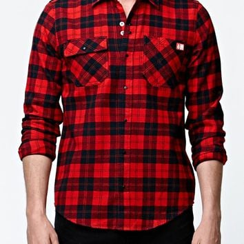 Volcom - Spitfire Flannel Shirt - Mens Shirts - Red