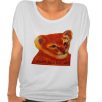 Custom Lion cub looking in the distance Tee Shirt