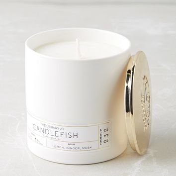 Candlefish Ceramic Candle