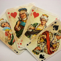 vintage playing cards for art projects . playing cards . art supplies . collage art . mixed media . vintage cards for printables . Dondorf