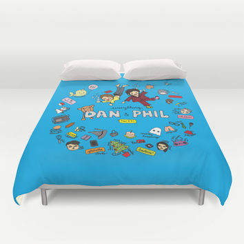 The Vortex of Everything Dan and Phil Duvet Cover by Alpacalyptica