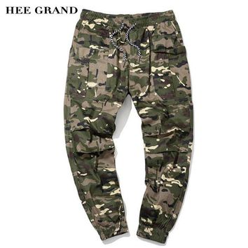 HEE GRAND Men Casual Cargo Pants 2018 New Arrival 100% Cotton Breathable Material Camouflage Slim Cuff Pants Size M-5XL MKX1351