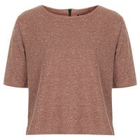 Zip Back Tee - Toffee
