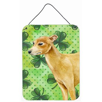 Italian Greyhound St Patrick's Wall or Door Hanging Prints BB9872DS1216