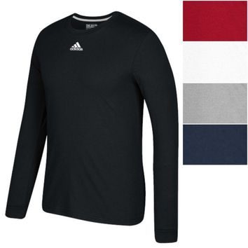 adidas Men's CLIMALITE GO TO Performance Long Sleeve Tee Athletic Slim Fit Shirt