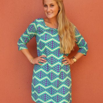 Geometric Shift Dress