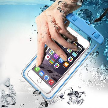 TOMKAS Universal Waterproof Case For iPhone X 8 7 6 s Plus Cover Pouch