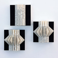 Wall Art, Mini Book Sculptures