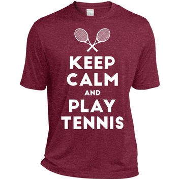 Keep Calm and Play Tennis T-Shirt-01  ST360 Sport-Tek Heather Dri-Fit Moisture-Wicking T-Shirt