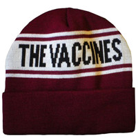 Vaccines Logo Beanie Hat (Claret/White) | The official webstore for The Vaccines