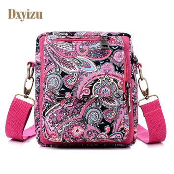 New fashion Paisley Pattern Cotton Fabric Shoulder&Cross body Bags for girls female bag designer special women Messenger bags