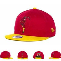 ONETOW Dc Comics Flash Action Arch Snaps 9fifty Cap Cap Snapback Hat - Ready Stock