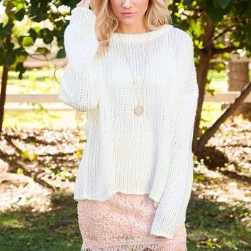 Wynne Oversized Sweater - Ivory