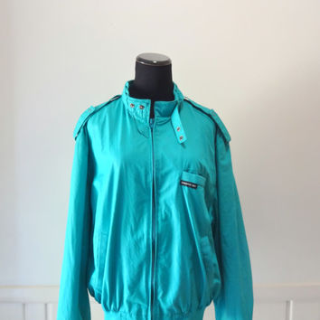 Vintage Teal Members Only Jacket Size 44
