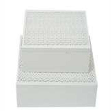 "7"" Square x 2-3/4""H MDF Laser Cut Box, White"