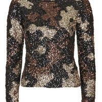 Sequin Jumper - Black