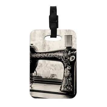"Debbra Obertanec ""Vintage Home"" Black Gray Decorative Luggage Tag"