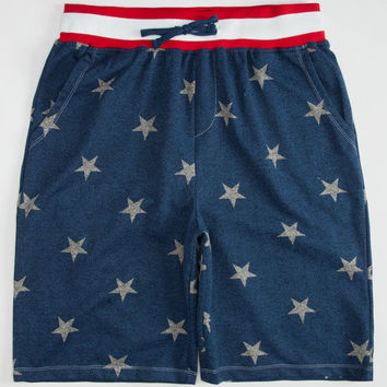 Brooklyn Cloth Stars & Stripes Mens Sweat Shorts Navy  In Sizes