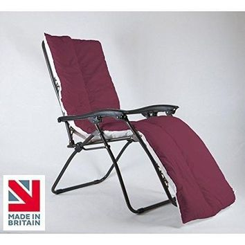 Garden Patio Sun Lounger Furniture Water Resistant Cushion Topper Pad Straps