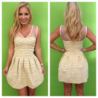 Festive Stripe Bandage Dress