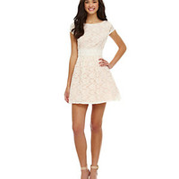 B. Darlin Cap-Sleeve Lace Party Dress | Dillard's Mobile